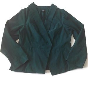 Torrid Deep Turquoise Open Front Blazer